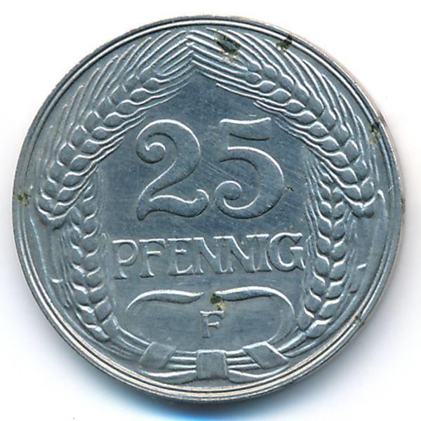 Германия, 25 пфеннигов (1910 г.)