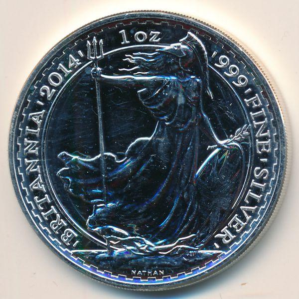 Великобритания, 2 фунта (2014 г.)