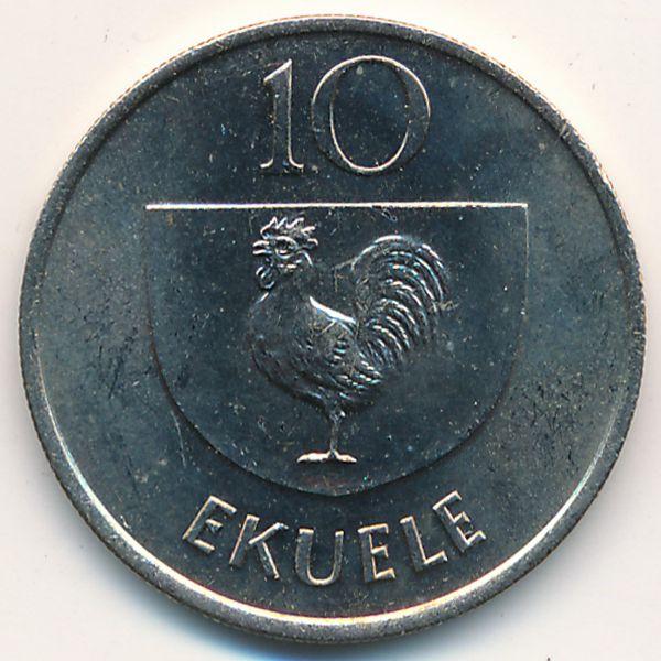 Экваториальная Гвинея, 10 экуэле (1975 г.)