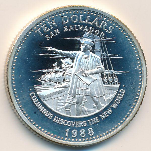 Багамские острова, 10 долларов (1988 г.)