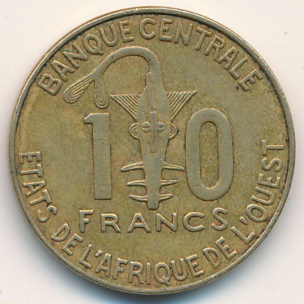 Западная Африка, 10 франков (2012 г.)