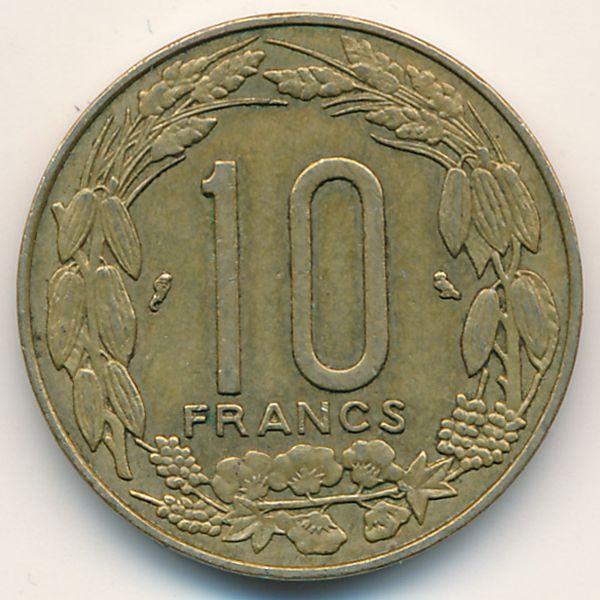 Экваториальные Африканские Штаты, 10 франков (1969 г.)