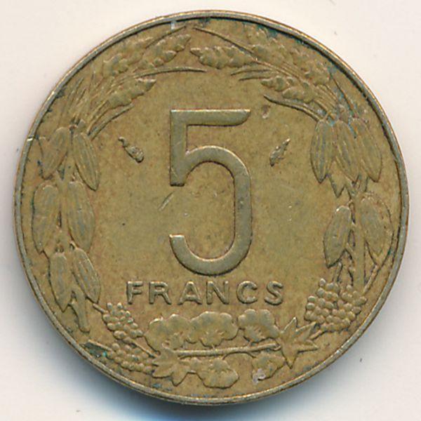 Центральная Африка, 5 франков (1983 г.)