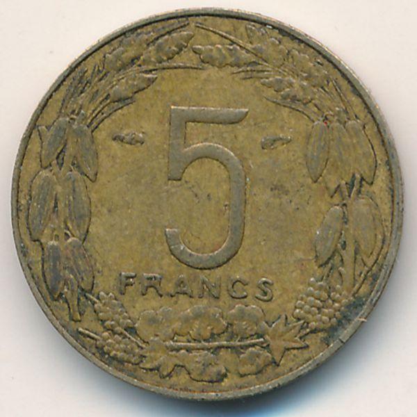 Камерун, 5 франков (1958 г.)