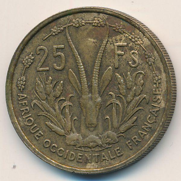 Французская Западная Африка, 25 франков (1956 г.)