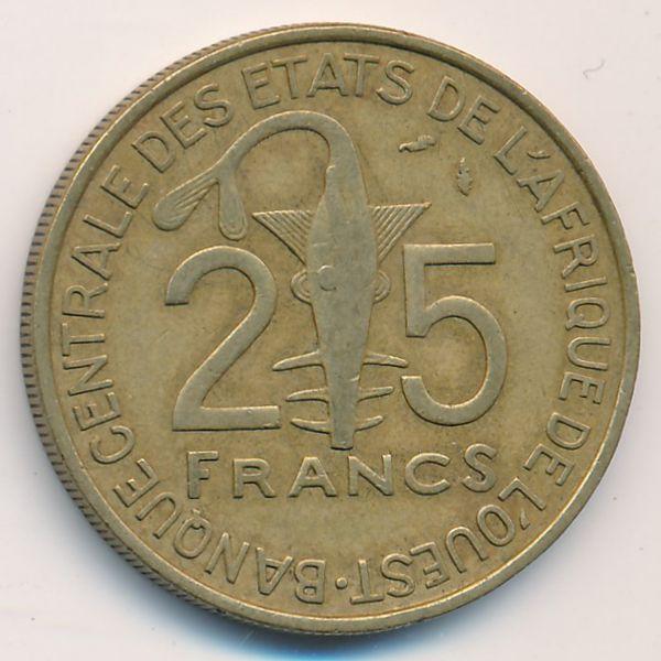 Западная Африка, 25 франков (1979 г.)