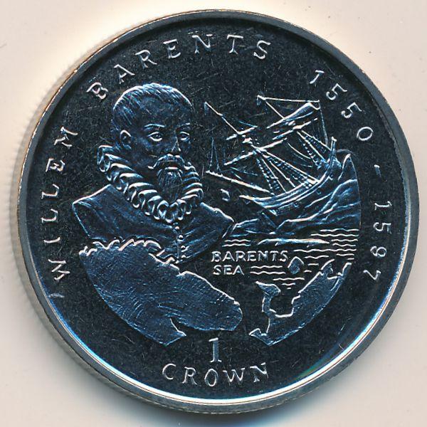 Остров Мэн, 1 крона (2000 г.)