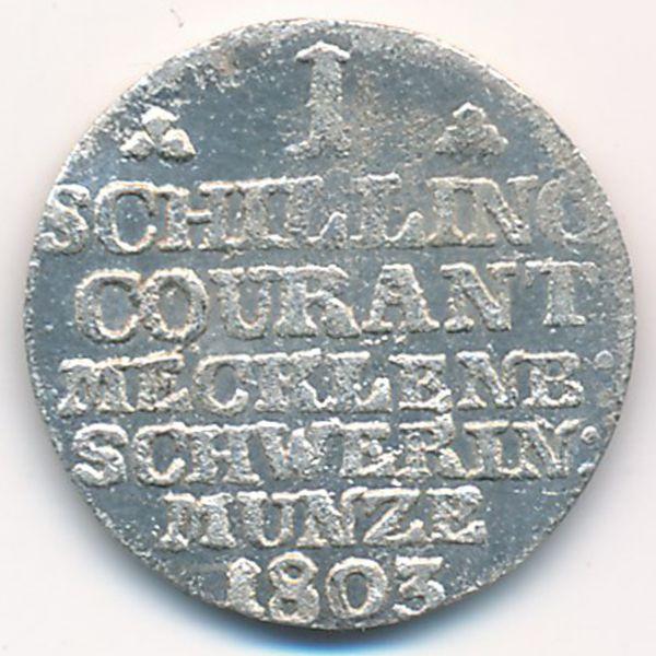 Мекленбург-Шверин, 1 шиллинг (1803 г.)