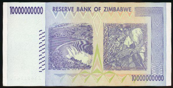 Зимбабве, 10000000000 долларов (2008 г.)
