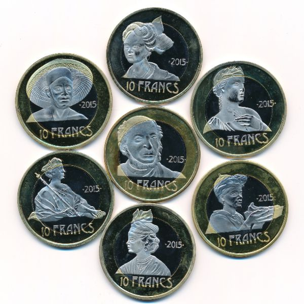 Французские Антильские острова, Набор монет (2015 г.)