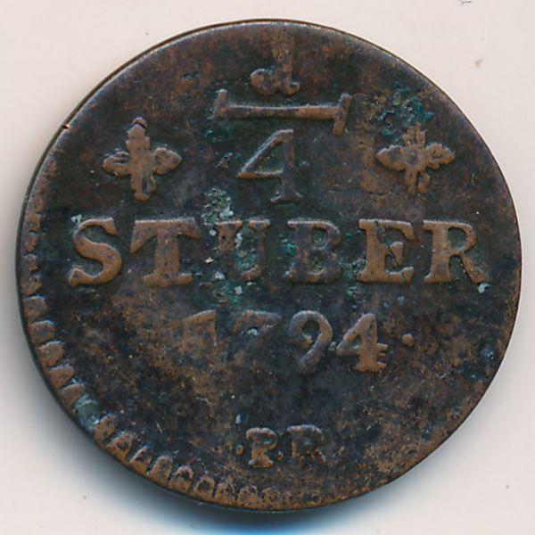 Юлих-Берг, 1/4 стюбера (1794 г.)