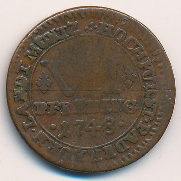 Падерборн, 6 пфеннингов (1748 г.)