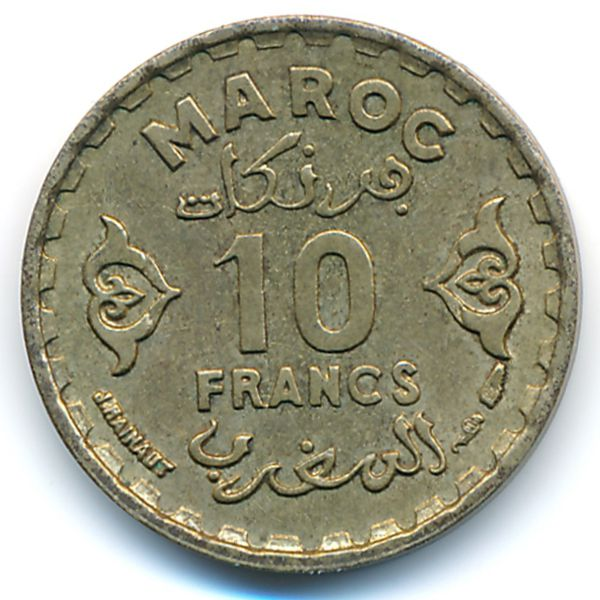 Марокко, 10 франков (1951 г.)