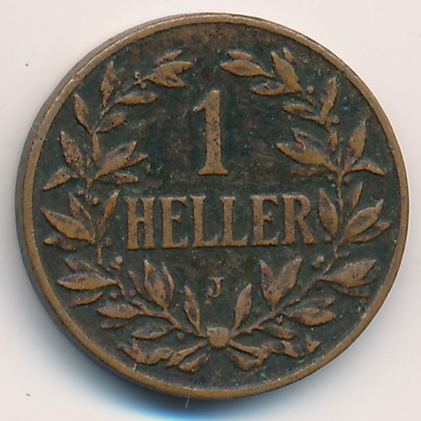 Немецкая Африка, 1 геллер (1912 г.)