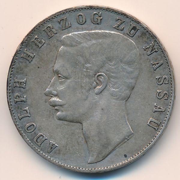 Нассау, 1 талер (1860 г.)