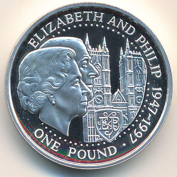 Гернси, 1 фунт (1997 г.)