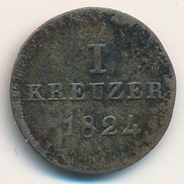 Нассау, 1 крейцер (1824 г.)
