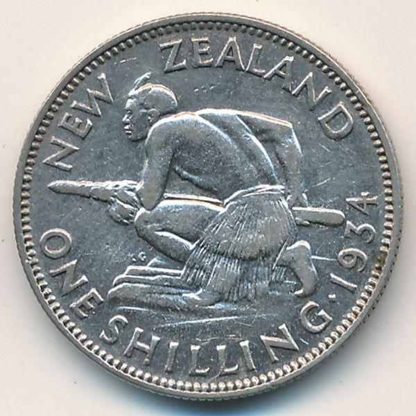 Новая Зеландия, 1 шиллинг (1934 г.)