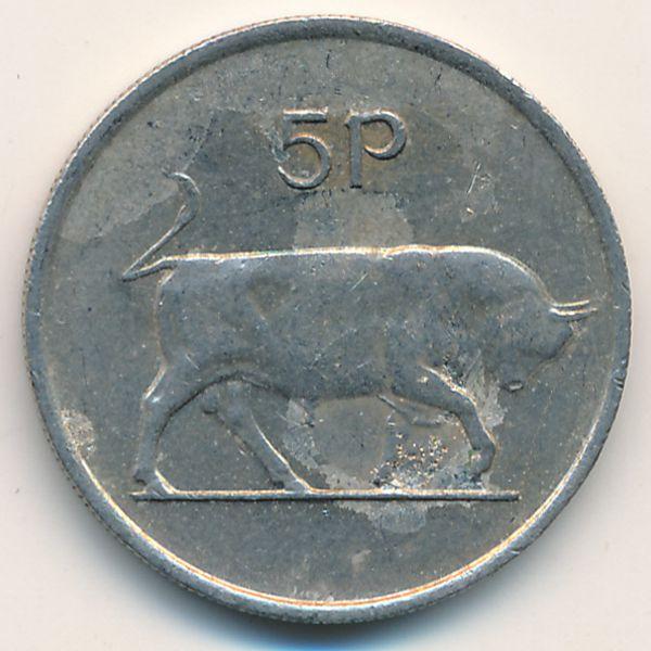 Ирландия, 5 пенсов (1975 г.)