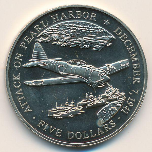 Либерия, 5 долларов (2000 г.)