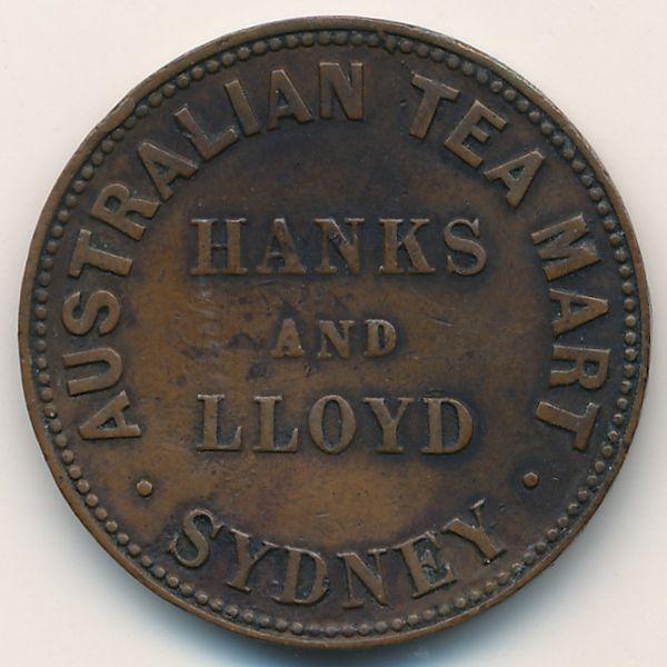 Австралия, 1/2 пенни (1857 г.)