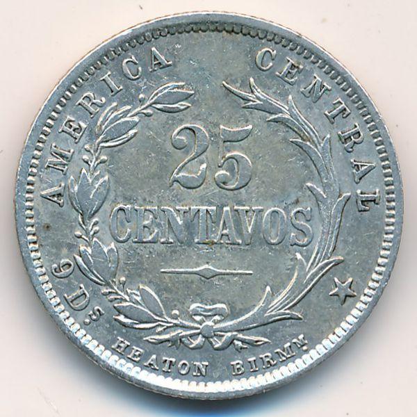 Коста-Рика, 25 сентаво (1892 г.)