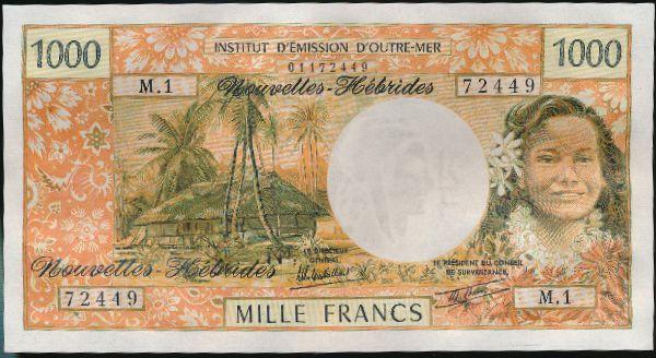 Новые Гебриды, 1000 франков