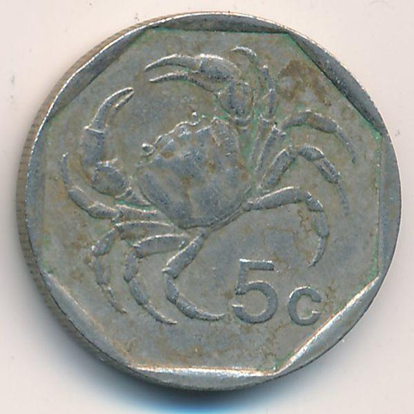 Мальта, 5 центов (1991 г.)