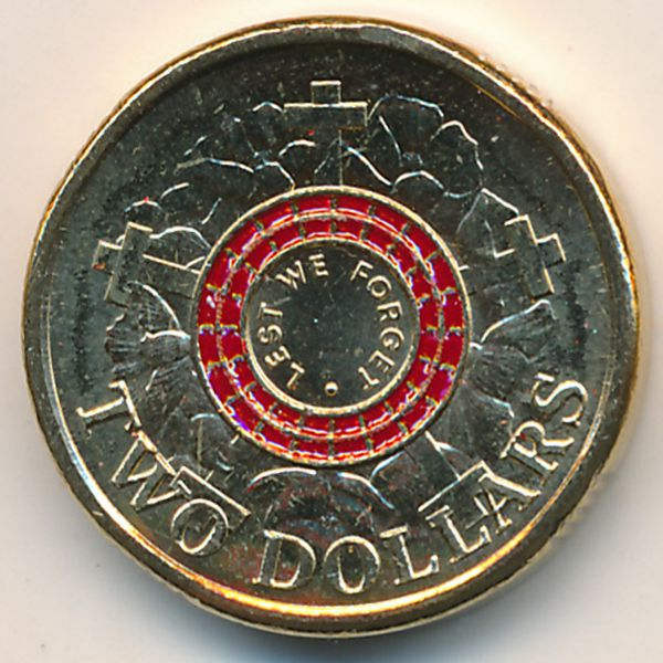 Австралия, 2 доллара (2015 г.)