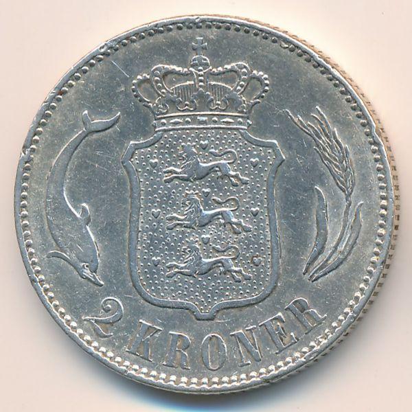 Дания, 2 кроны (1915 г.)