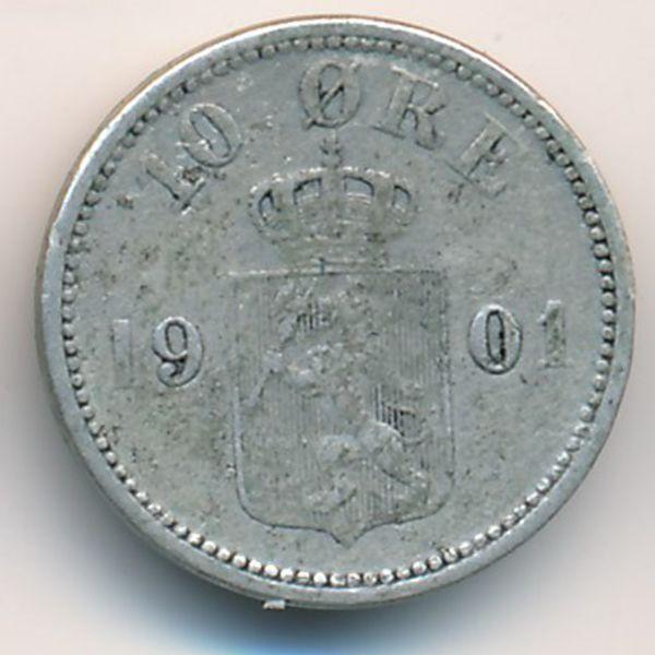 Швеция, 10 эре (1901 г.)