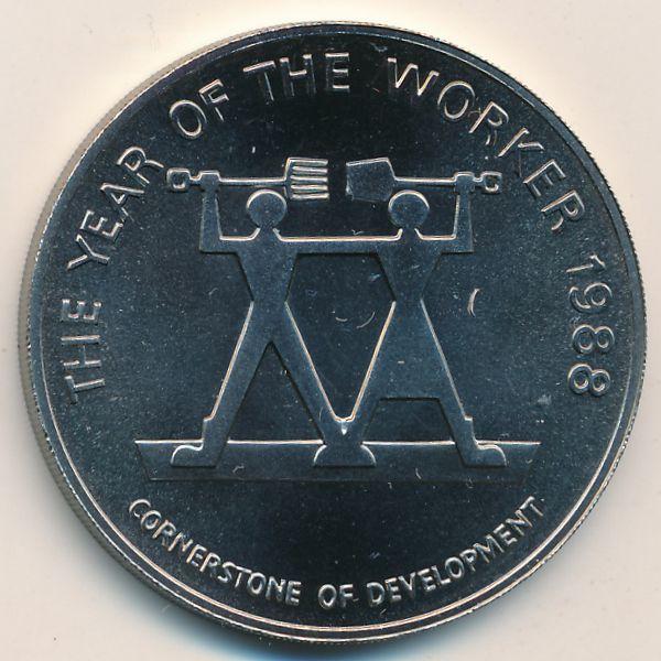 Ямайка, 10 долларов (1988 г.)
