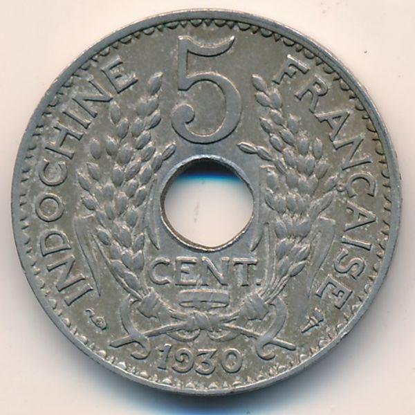 Французский Индокитай, 5 центов (1930 г.)