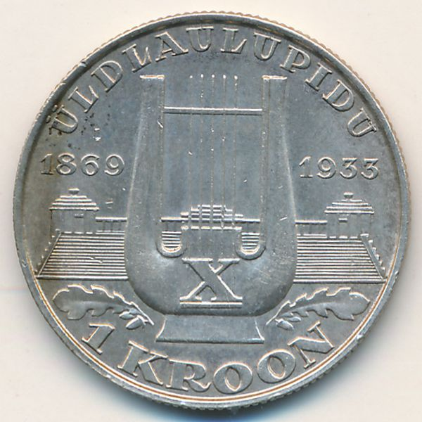 Эстония, 1 крона (1933 г.)