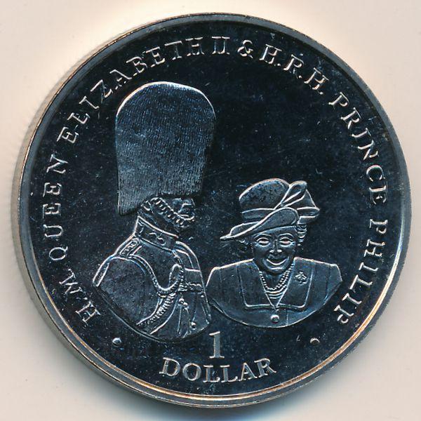 Виргинские острова, 1 доллар (2017 г.)