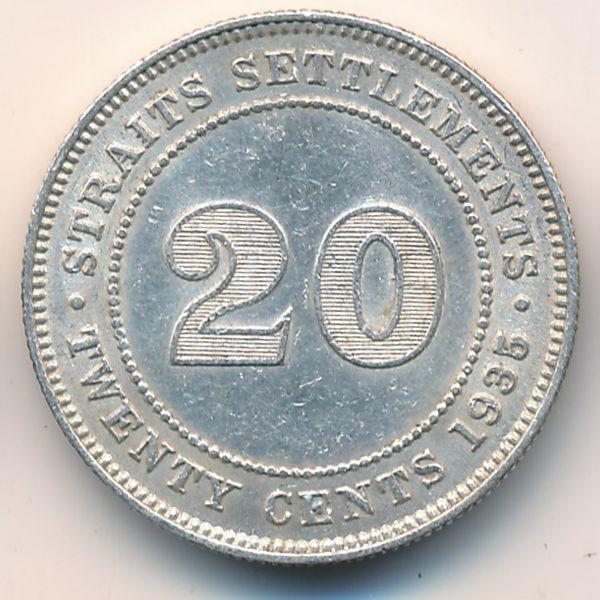 Стрейтс-Сетлментс, 20 центов (1935 г.)