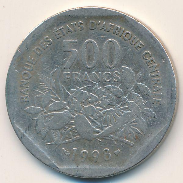 Экваториальные Африканские Штаты, 500 франков (1998 г.)