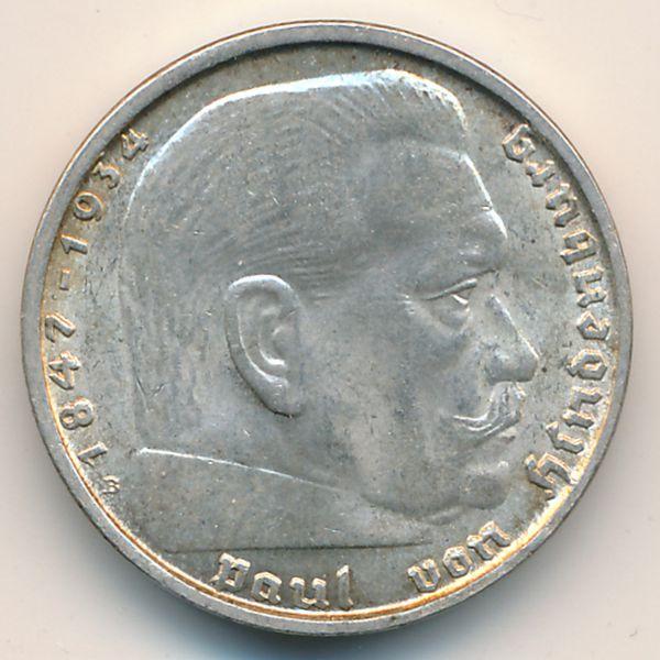 Третий Рейх, 2 рейхсмарки (1938 г.)