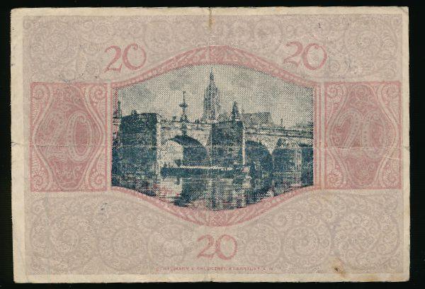 Франкфурт-на-Майне., 20 марок (1918 г.)