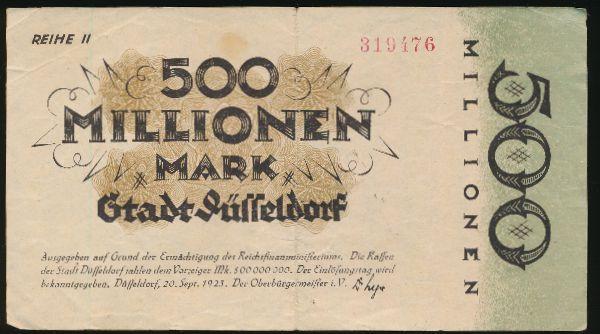 Дюссельдорф., 500000000 марок (1923 г.)