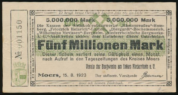 Лёррах., 5000000 марок (1923 г.)