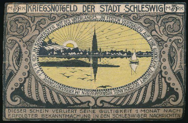 Шлезвиг., 5 марок (1918 г.)