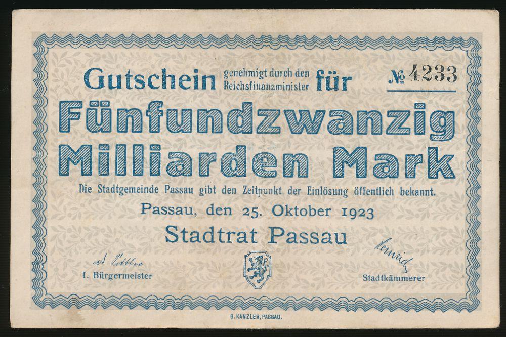 Пассау., 25000000000 марок (1923 г.)