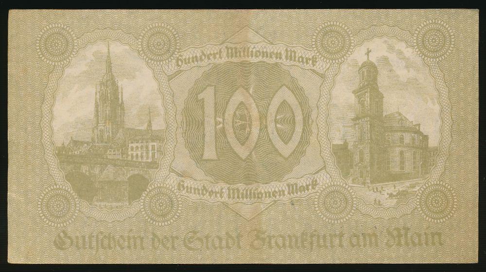 Франкфурт-на-Майне., 100000000 марок (1923 г.)