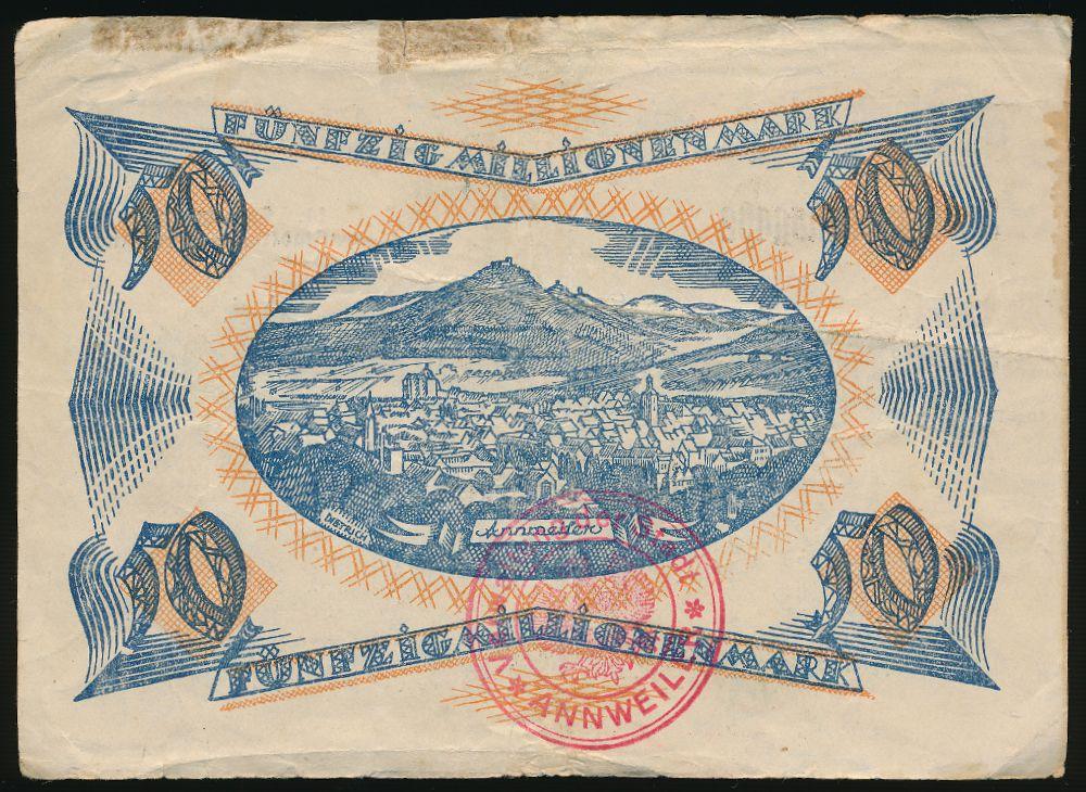 Аннвайлер-ам-Трифельс., 50000000 марок (1923 г.)