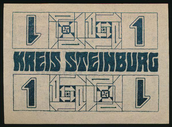 Штайнбург., 1 марка (1918 г.)