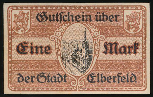 Эльберфельд., 1 марка (1918 г.)