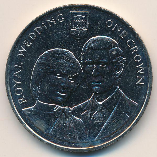 Гибралтар, 1 крона (1981 г.)