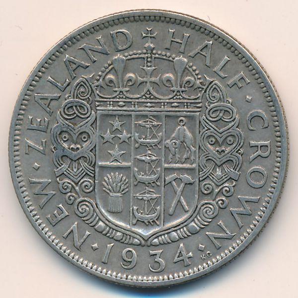 Новая Зеландия, 1/2 кроны (1934 г.)
