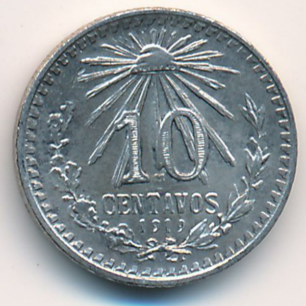 Мексика, 10 сентаво (1919 г.)